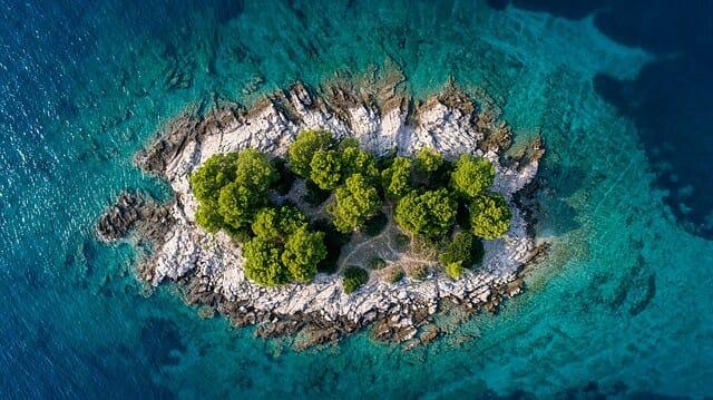Kroatien klein Insel