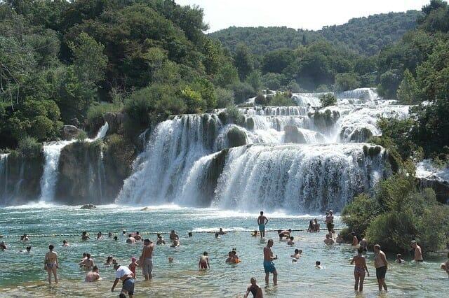 Darf man baden in den Krka Wasserfällen?