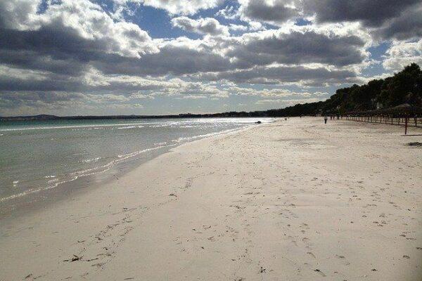 Wie lang ist der Strand von Alcudia?
