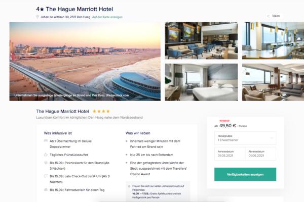 The Hague Marriott Hotel Angebot