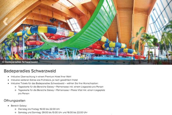 Badeparadies Schwarzwald Angebot