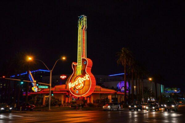 Las Vegas Stadt in der Nacht