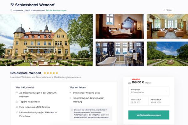 Schlosshotel Wendorf Angebot