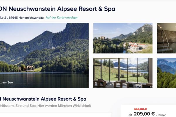 AMERON Neuschwanstein Alpsee Resort & Spa Angebot