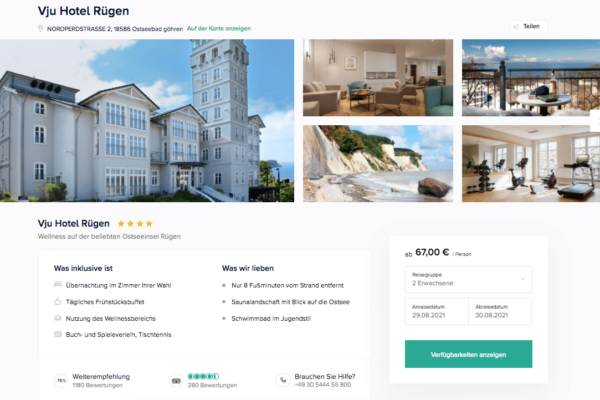 Hotel Hanseatic Rügen Angebot