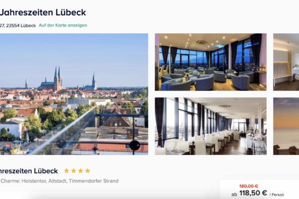 Hotel Vier Jahreszeiten Lübeck Angebot