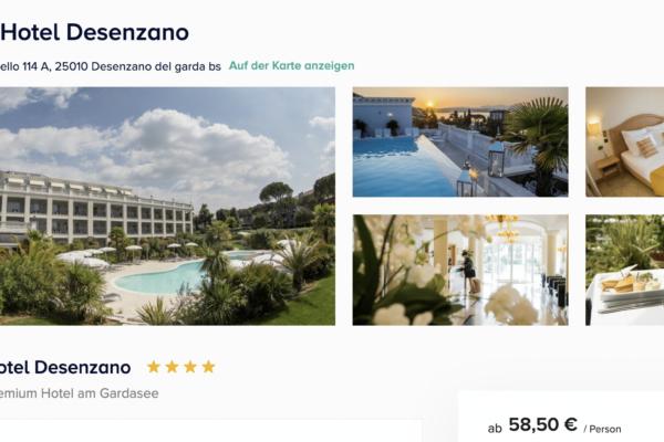 Palace Hotel Desenzano Angebot