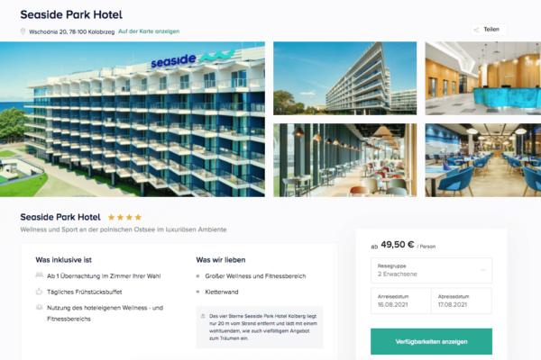Seaside Park Hotel Kolberg Angebot