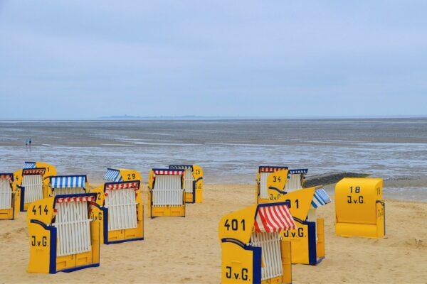 Wie lang ist der Duhnen Strand?