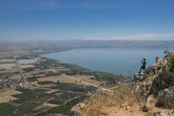 Wunderschöne Aussicht auf den Genezareth See