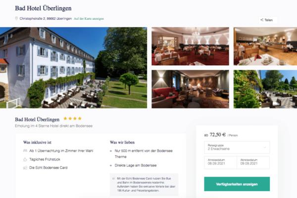 Bad Hotel Überlingen Angebot