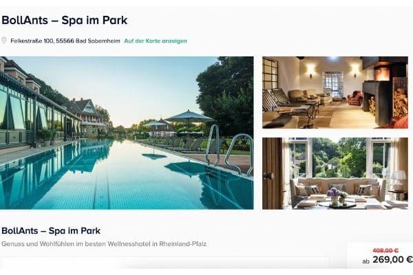 BollAnts Spa im Park Angebot