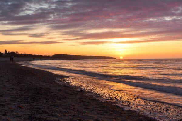 Der Warnemünder Strand ist ideale Familienstrand
