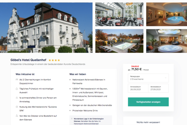 Göbel's Hotel Quellenhof Angebot