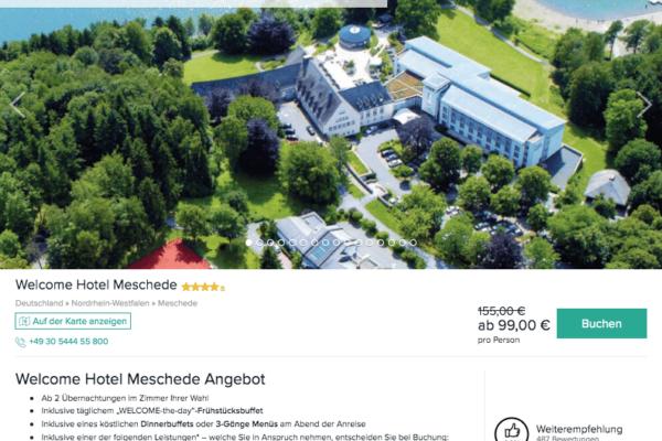 Welcome Hotel Meschede Angebot