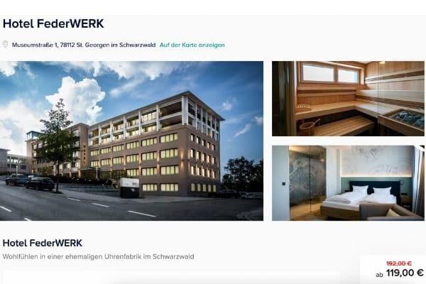 Hotel FederWERK Angebot