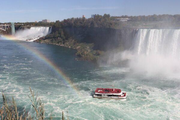 Schöne Aussicht auf den Wasserfall